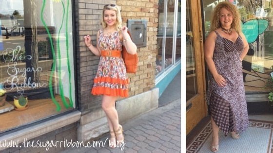 kelsey in orange sundress amanda in sacred threads
