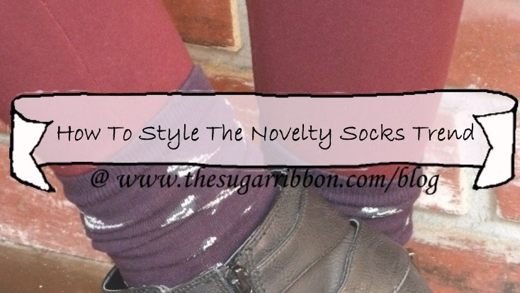 How to Style the novelty socks trend